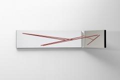 Herminio, N.56, 32 x 160 x 49 cm, mixta y campos magneticos, pieza unica, 2012