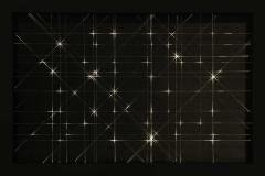 Pablo Armesto, Constelación, 100 x 150 cm, Mixta sobre DMF lacado, neopreno y fibra óptica más LED, 2017