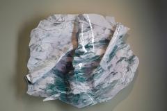 Rosa Muñoz, ESTRATOS DEL TIEMPO Nº 10, 66 x 77 cm, Lienzo canvas superficie resina, Ed.1/4, año 2014