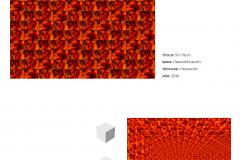 Alejandra Glez_ST_Serie Descodificación_50x50x50cm_Instalación (Cubo rojo)_2018