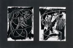 <strong> Antonio Saura</strong> DEUX DAMES, 50, 5 x 71 cm, óleo sobre lienzo