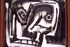 <strong> Antonio Saura</strong> PORTRAIT, 34 x 42 cm, óleo sobre lienzo.