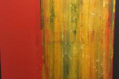 Rafael Canogar, BARCAL, 100 x 81 cm, Óleo sobre tabla, Año 2012