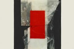 Rafael Canogar, Costera, 60 x 60 cm, fragmentaciones, 2002