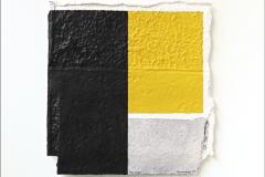 Rafael-Canogar_Moldura_60x60cm_óleo-y-collage-de-papel-hecho-a-mano-sobre-tabla_2005