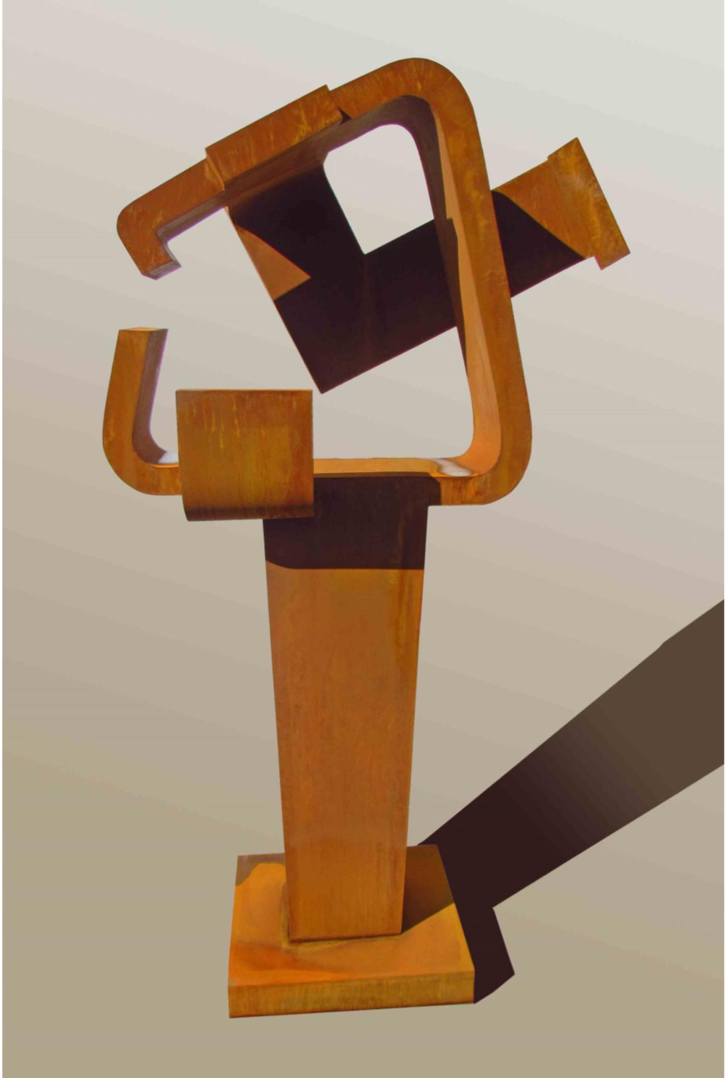 <strong> Carlos Albert</strong> Polífemo, 195 x 120 x 65cm, Acero Corten, Pieza Única, Año 2015