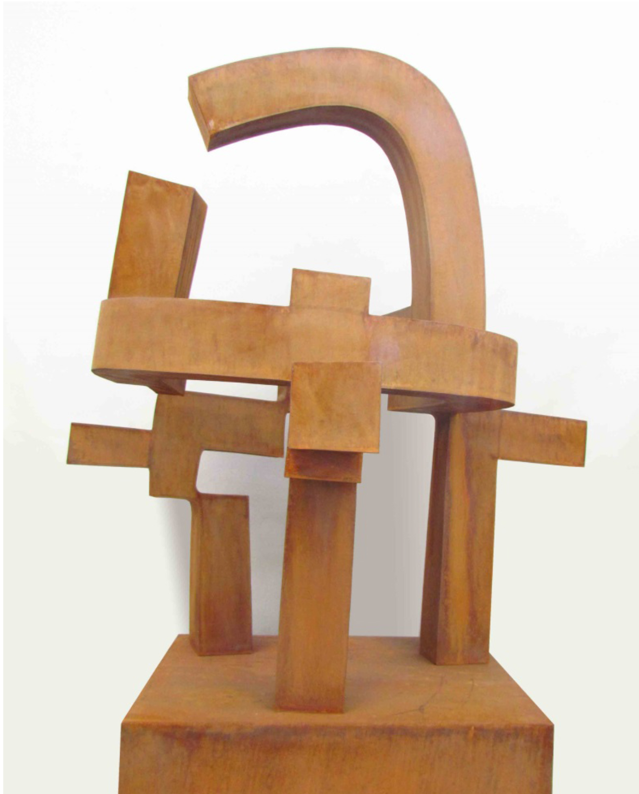 <strong> Carlos Albert</strong> Pozo, 163 x 102 x 91cm Acero Corten, Pieza Única Año 2015