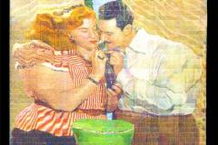 Alejandro Bombin, Correspondencias 2, 120 x 120 cm, lapices de colores sobre tabla, 2014