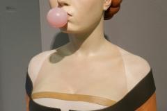 Gerard Mas. Dama del chicle 51 x 38 x 22 cm Resina policromada. 2017