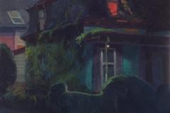 <strong> Guillermo Oyágüez</strong> NOCHE DE ESTUDIO, (Boston, Massachussets) 40 x 40 cm, Óleo sobre lino