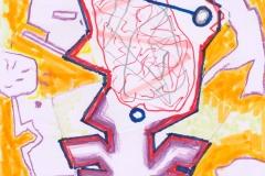 ST_Dibujo-14_297-x-21-cm_mixta-sobre-papel_2020_Luis-Gordillo