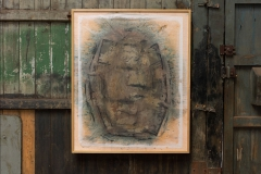 <strong>Mariano Matarranz</strong> SIN TÍTULO, 122 x 100 cm, Técnica mixta sobre papel japonés, Año 2015-2016