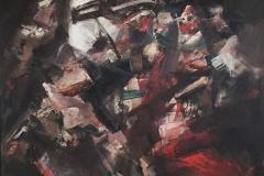 Orlando Pelayo_Para que estalle el drama_130x130cm_oleo sobre lienzo_1963