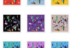 Santiago Picatoste. Serie limitada grabados OSCILLATION (gama de colores)