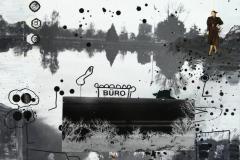 <strong> Juan Ugalde</strong> BURO, 65 x 50 cm Mixta sobre lienzo Año 2015