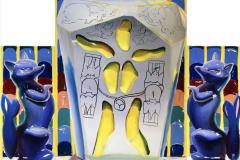 Caserita-no-me-dejes-ir-135-x-145-cm-Óleo-esmalte-rotulador-y-spray-sobre-lienzo-2020-Bariiga