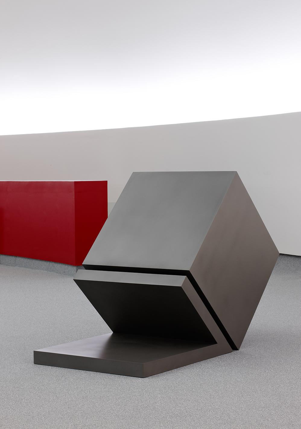 <strong>Herminio</strong> I62 (2003) Acero, Campos Magnéticos, 142 x 210 x 100cm