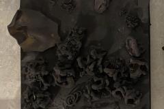 5.Black-XIII-69-x-69-cm-Oleo-y-ceramica-sobre-lienzo-2021